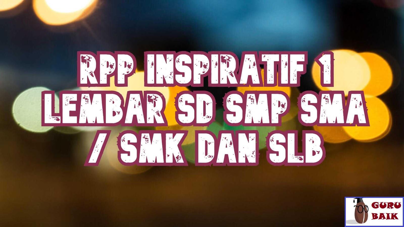 GAMBAR RPP inspiratif SD SMP SMA SMK