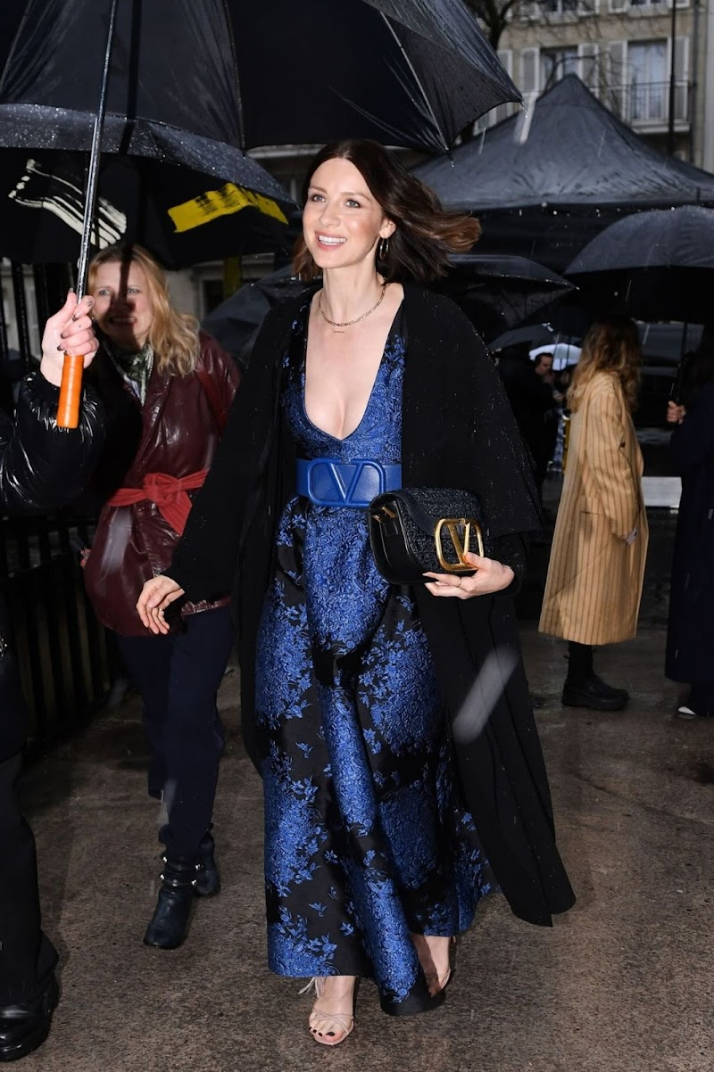 Caitriona Balfe Leaves Valentino Fashion Show in Paris 1 Mar -2020