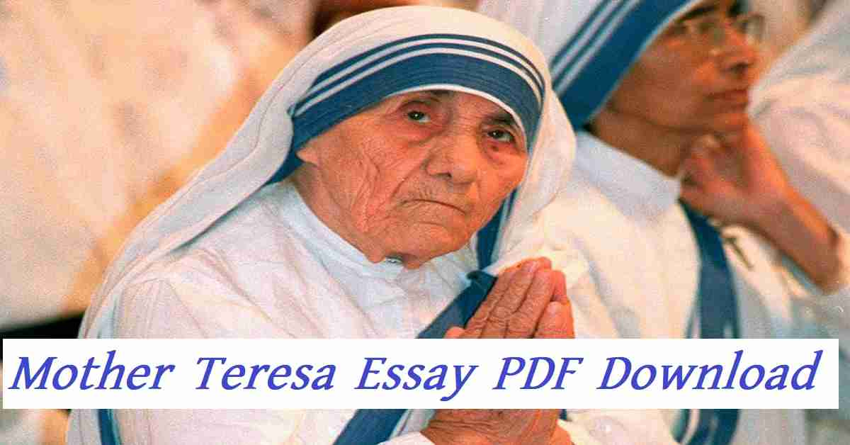 Mother Teresa Essay PDF Download