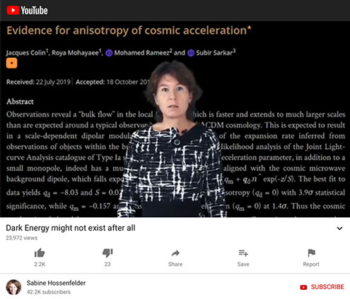 Maybe dark energy doesn't exist at all (Source: https://www.youtube.com/watch?v=oqgKXQM8FpU)