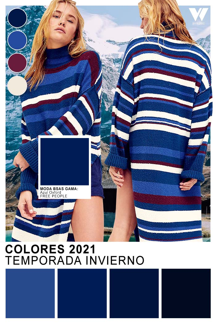 Colores de moda otoño invierno 2021 tonos azules Azul