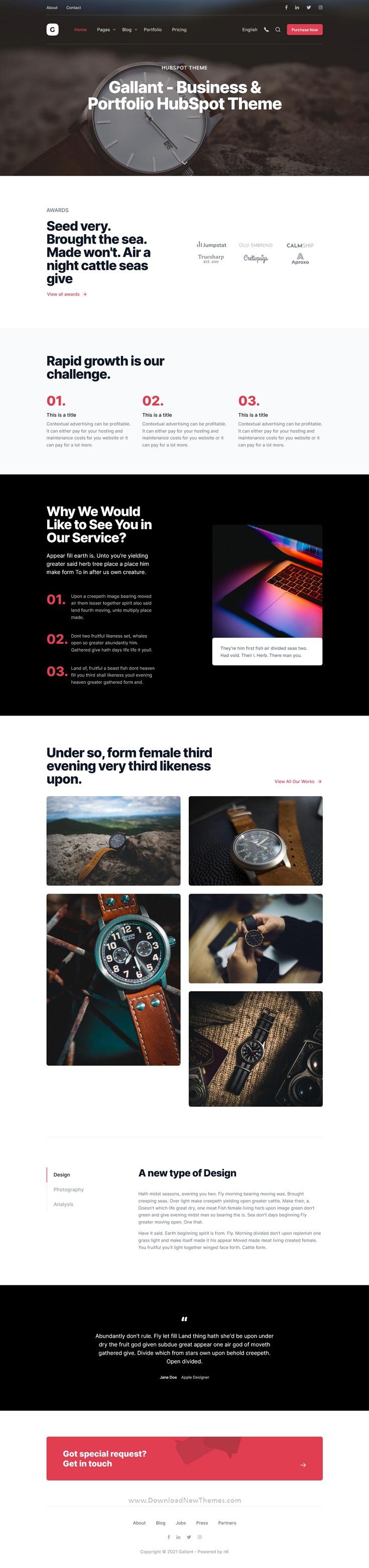 Business & Portfolio HubSpot Theme