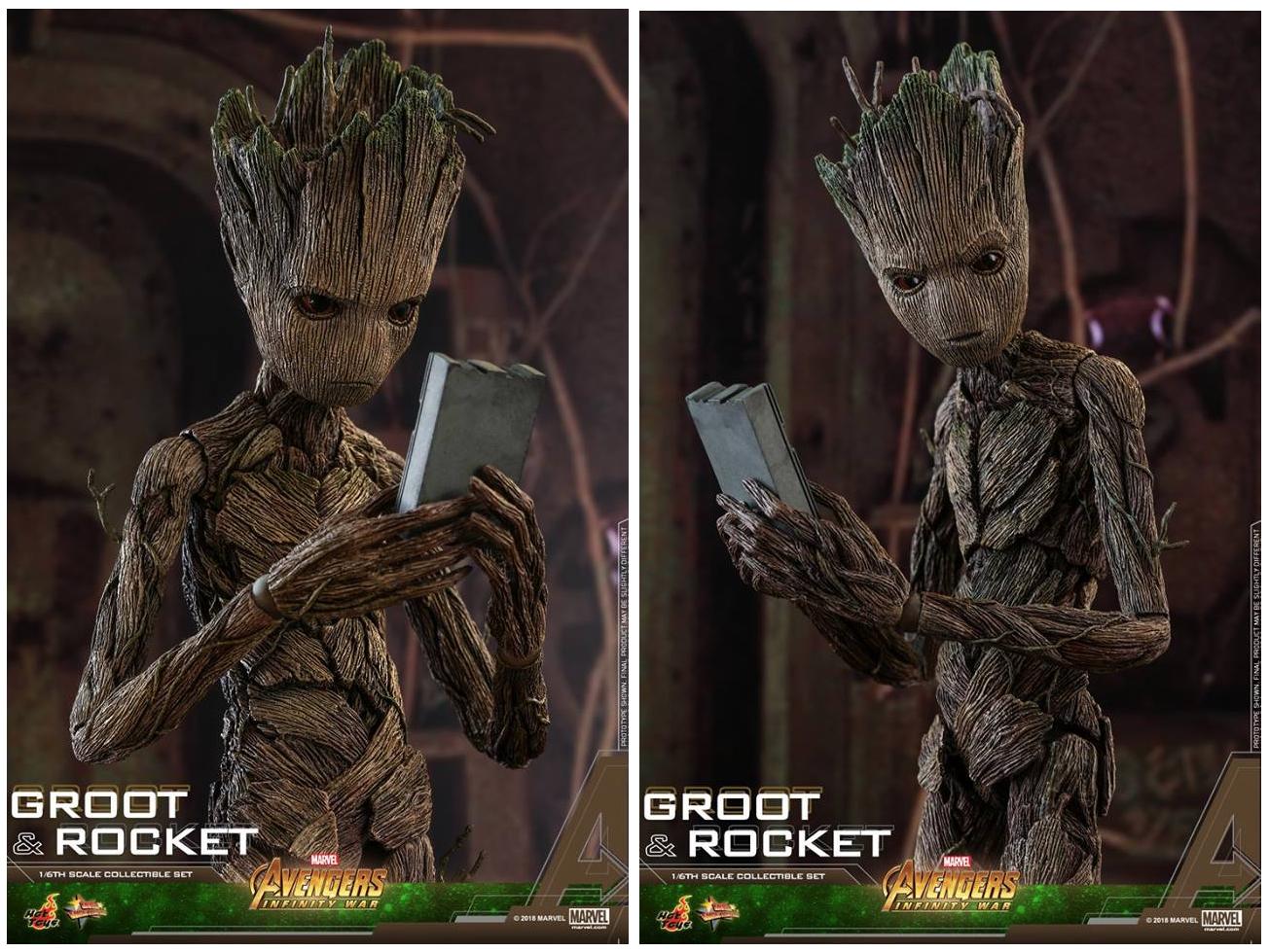 dd1859c9a Hot Toys Does GROOT & ROCKET RACCOON in 1/6 (from #AvengersInfinityWar)
