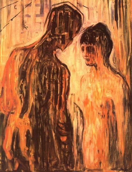 Эдвард Мунк - Амур и Психея. 1907