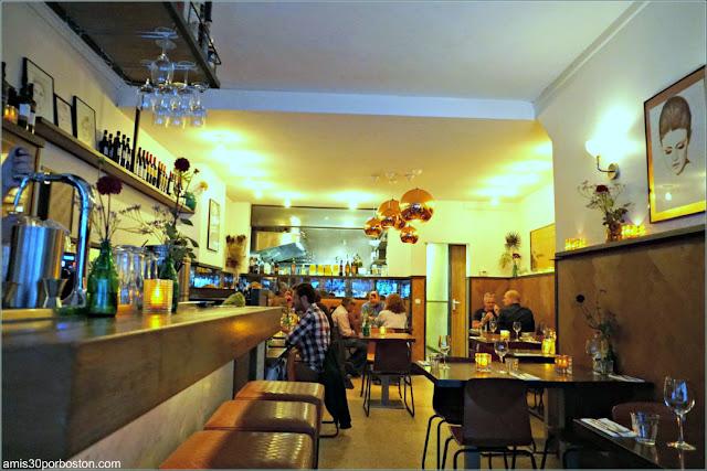 Comedor del Restaurant Vlaming en Amsterdam