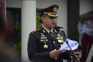 Kapolres Trengalek Isyaratkan Profesionalitas Polri Dalam Upacara HUT Bhayangkara ke-71