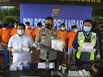 Satres Narkoba Polresta Gulung 8 Tersangka Sindikat Narkoba Jaringan Malaysia, 4 Kg Sabu Disita