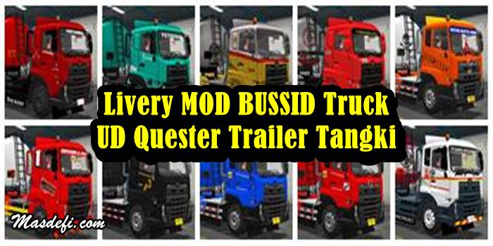 livery truck ud quester trailer tangki