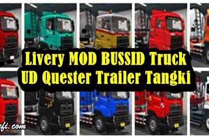 Livery Truck UD Quester Trailer Tangki MOD BUSSID By Ade Iskandar