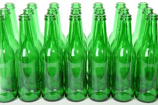 Agua solarizada botella verde