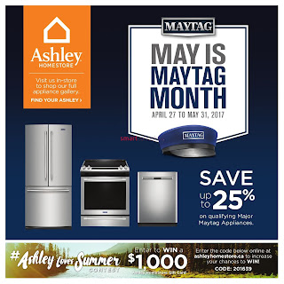 Ashley Homestore Maytag Monthly Flyer May 1 to 31, 2017