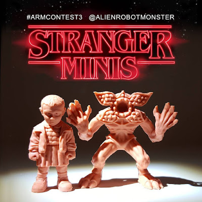 "Stranger Things ""Stranger Minis"" Keshi Rubber Mini Figures Set 1 by Alien Robot Monster"