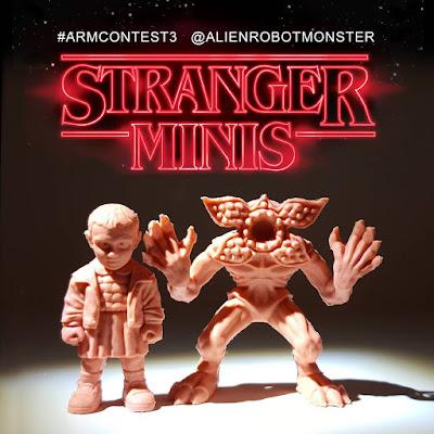 """Stranger Things """"Stranger Minis"""" Keshi Rubber Mini Figures Set 1 by Alien Robot Monster"""