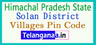 Solan District Pin Codes in Himachal Pradesh State