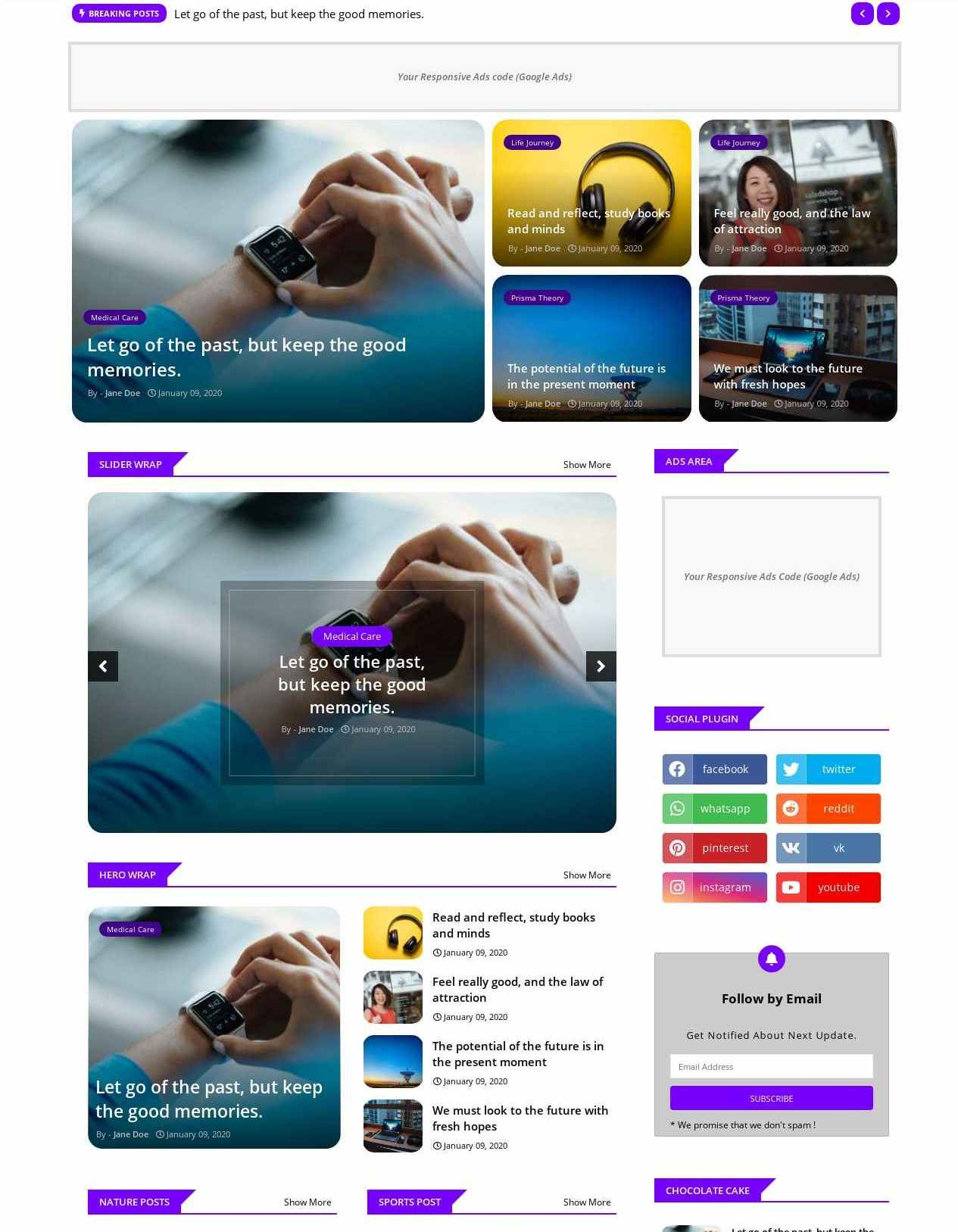 Super Center  Featured And Article Blogger Template