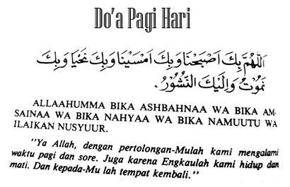 Doa Pagi Hari Islami Rosulullah Tulisan Arab Latin Dan Artinya