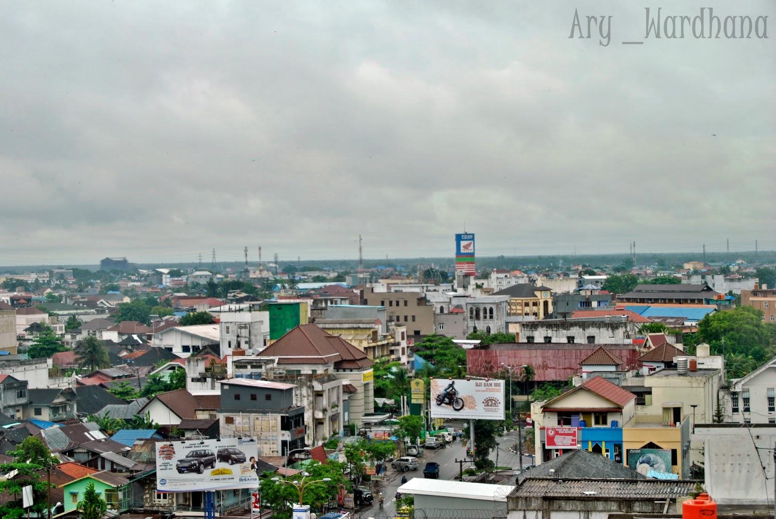 banjarmasin city views from the hotel grand mentari