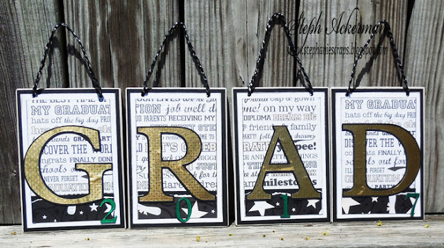 Graduation Banner using Rinea Foiled Paper