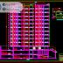 مخطط عمارة سكنية 12 طابق مع موقف سيارات اوتوكاد dwg