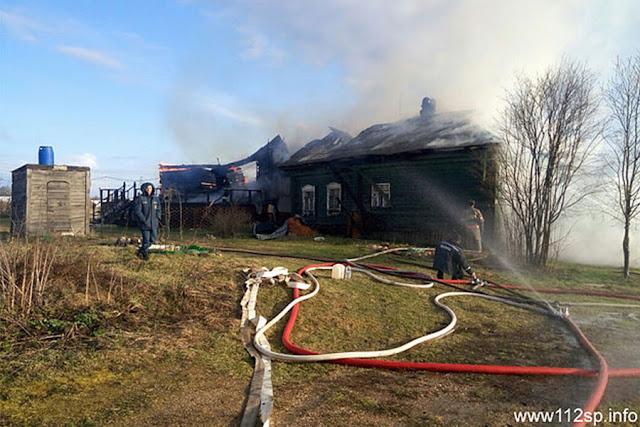 Пострадавший на пожаре скончался до прибытия скорой Сергиев Посад