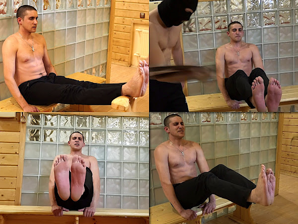 #RusStraightGuys - Siberian Lad Ildar 24 y.o. Bastinado punishment by the belt