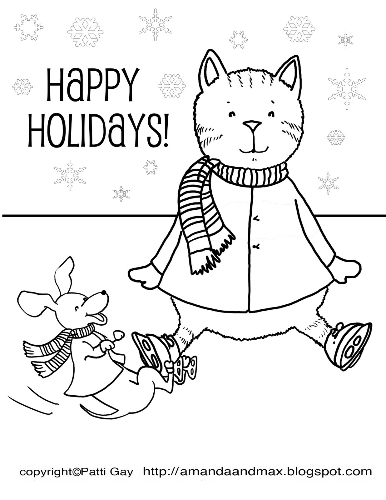 Happy Holidays Coloring...