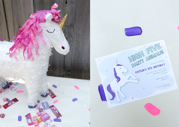 The Worlds Cutest Plush Unicorns Came From Land Of Nod And Were Party Favors Along With Bags For Unicorn Pinata Treats