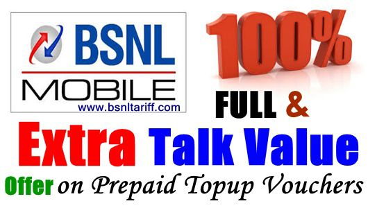 Full Talk value on bsnl topup vouchers