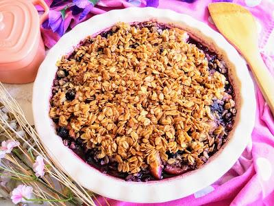 Simple Blueberry Pear Crisp