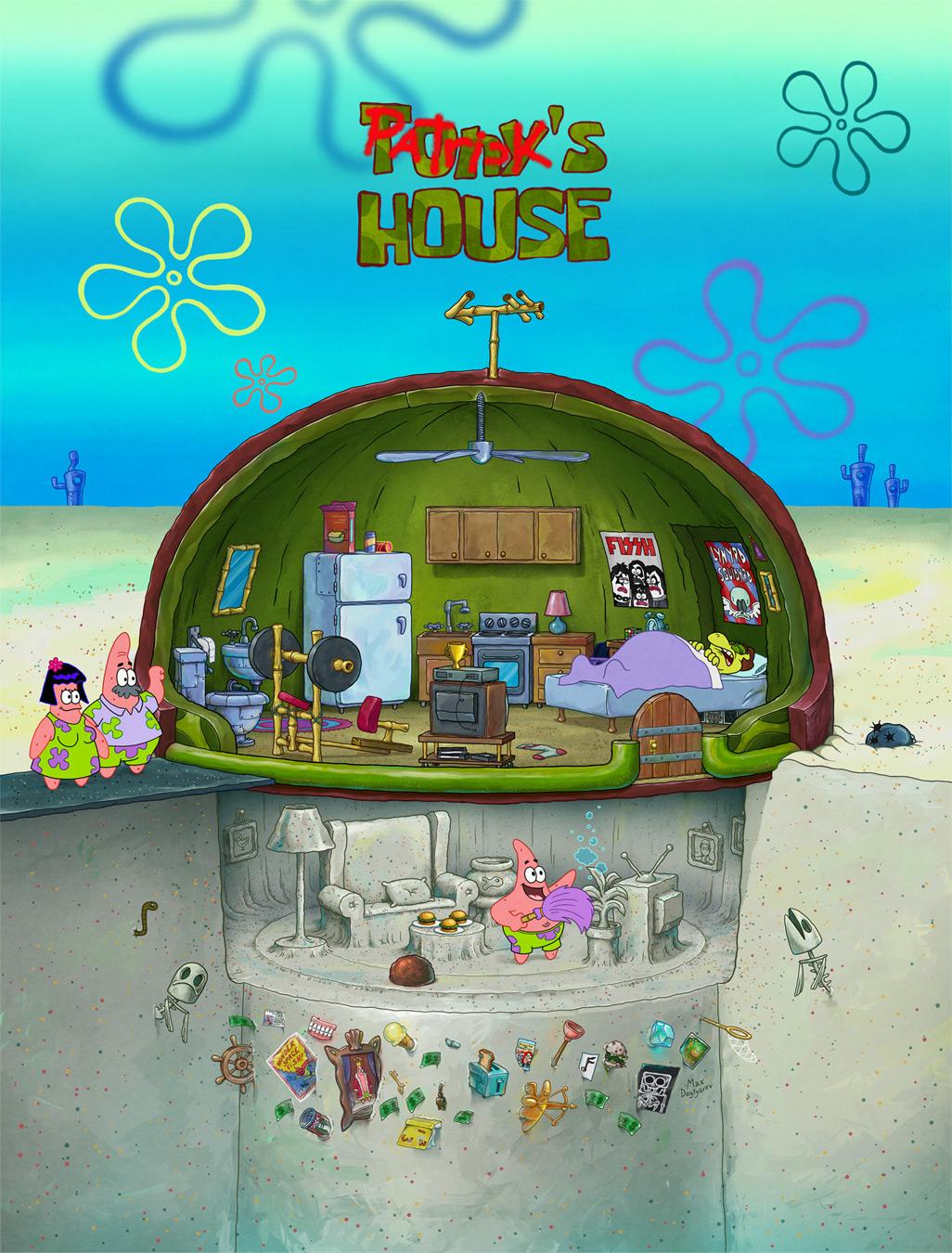 Patrick Rock Spongebob : patrick, spongebob, NickALive!:, Patrick, Star's, House, Should, Really, 'SpongeBob, SquarePants'