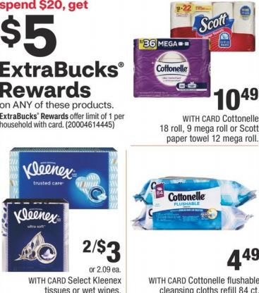 bath tissue deals cvs