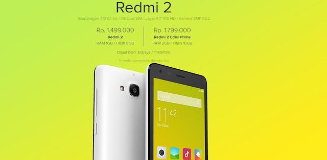 Mengulas Spesifikasi Xiaomi Redmi 2 Prime