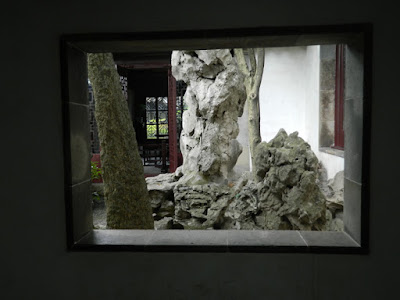 Lingering Garden Suzhou China framed view of rockery by garden muses-not another Toronto gardening blog