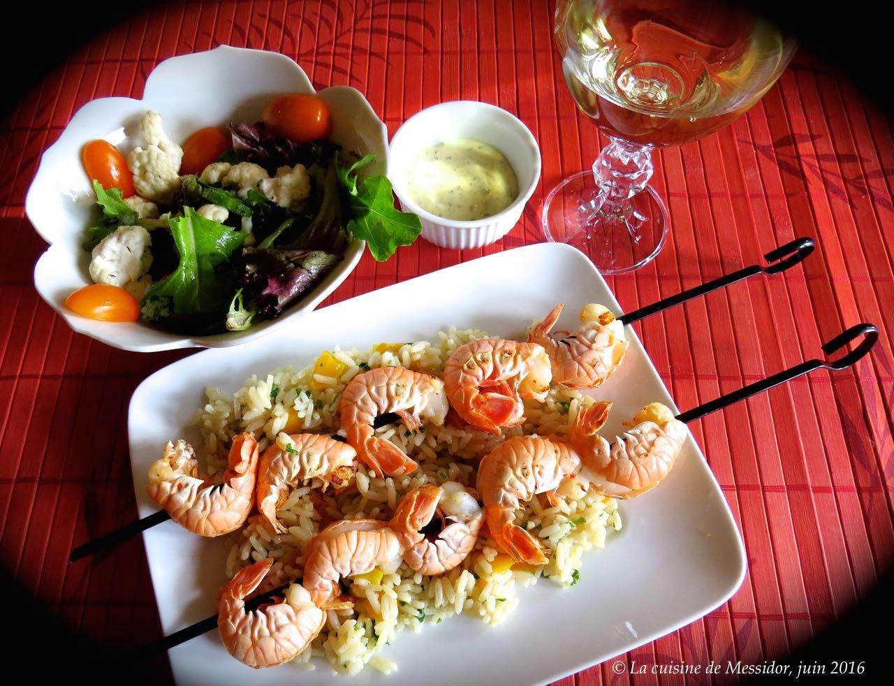La cuisine de messidor repas de langoustines bbq la for Repas de cuisine