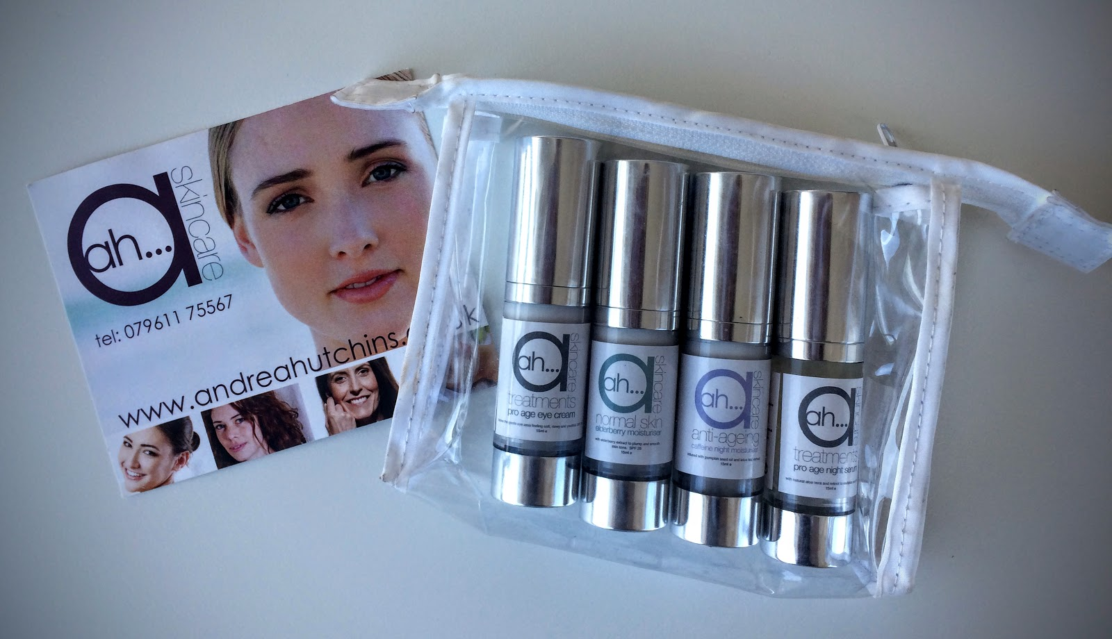 AH Skincare Caffeine night cream, Elderberry moisturiser, Prp age eye area, pro age night serum