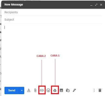 cara mengirim file di google drive lewat gmail