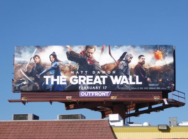 Great Wall movie billboard