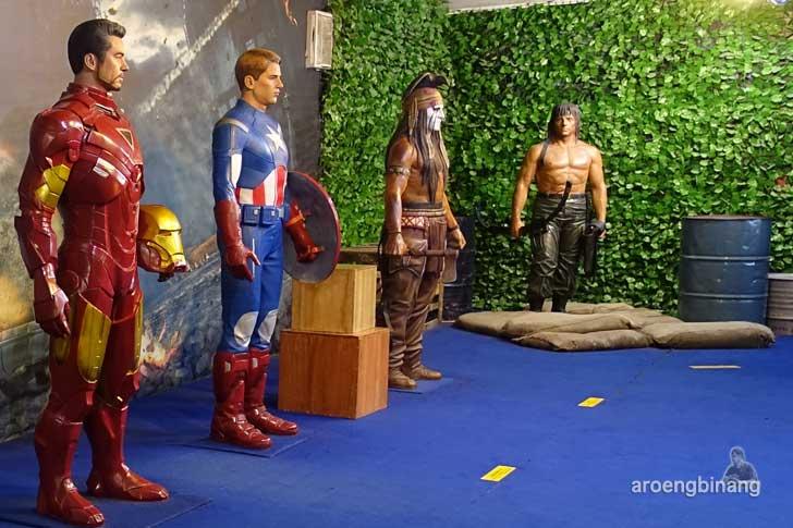 Captain America de arca statue art museum yogyakarta