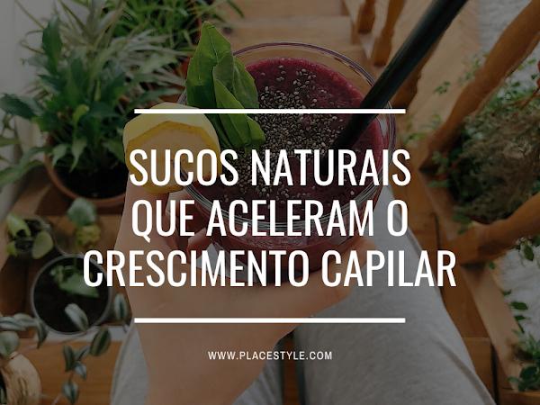 Sucos naturais que aceleram o crescimento capilar