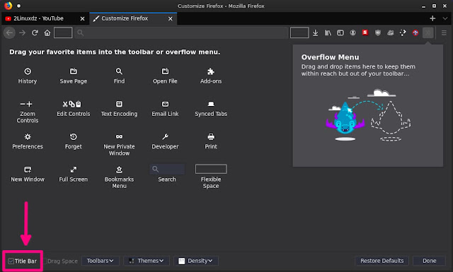 Disable Title Bar Option Firefox