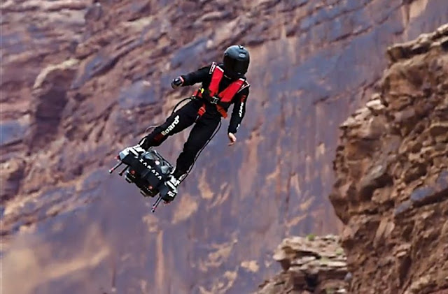 Flyboard Air: Jet Engines Strapped to Feet Going 103.4 MPH! Video featuring ZAPATA RACING