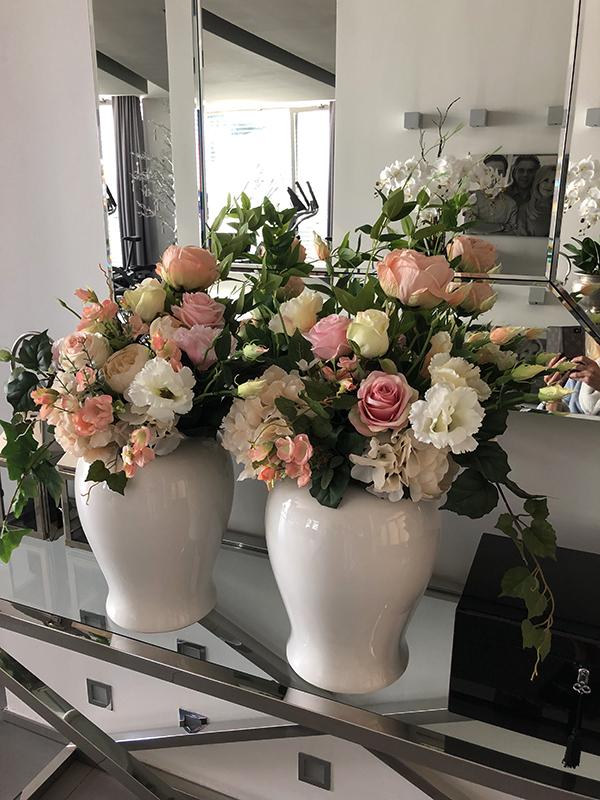 Nasze kwiatowe dekoracje u jednej ze stałych Klientek, Pani Beaty