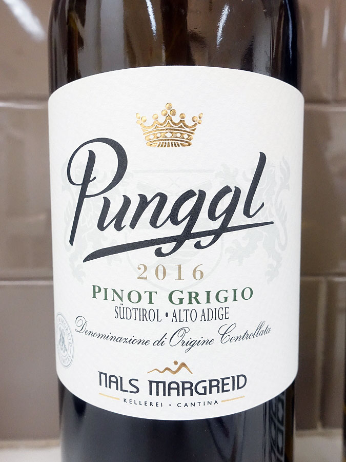 Nals Margreid Punggl Pinot Grigio 2016 (90 pts)