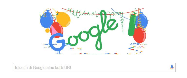 Selamat Hari Ulang Tahun Google