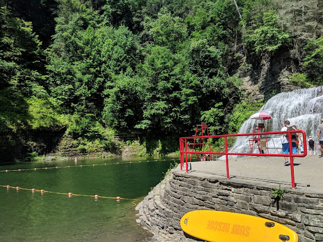 Swimming Area Lower Falls Gorge Trail Robert H. Trehman State Park Swim Under Waterfal
