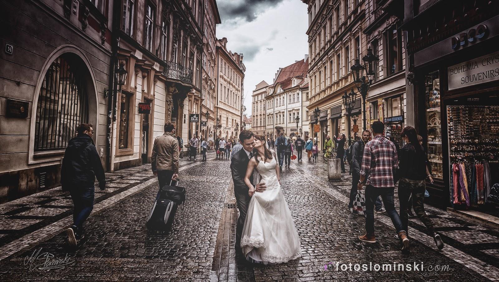 Jakie miejsca na sesje plenerową polecam ? Praga i te piękne ulice. Fotograf Michał Słomiński Wrocław.