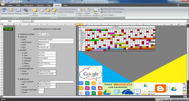 Contoh Format Aplikasi Administrasi Guru Wali Kelas Format Excel Lengkap Download Gratis