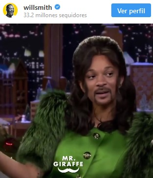 Will Smith haciendo de Cardi B