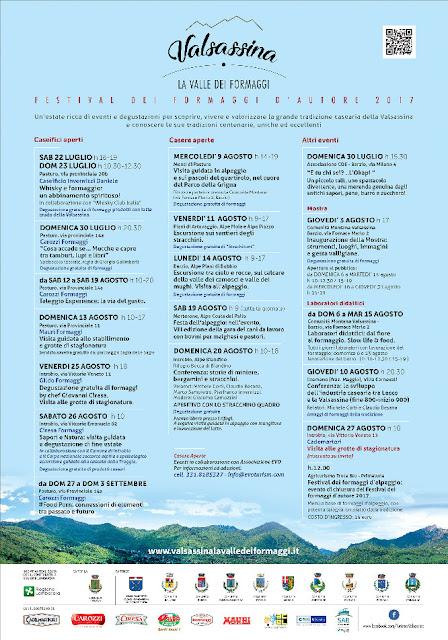 Festival dei formaggi d'autore fino al 3 settembre Valsassina (Lc)