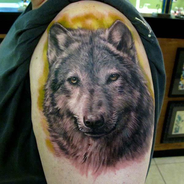 3d wolf tattoo